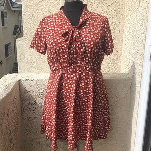 ModCloth Fervour apple dress